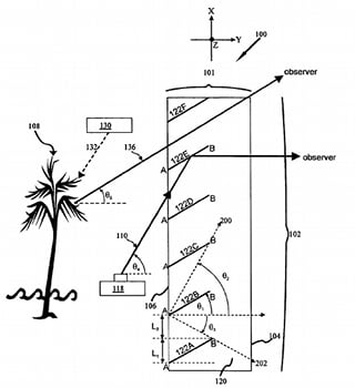 Diagram from HP's see-through patent