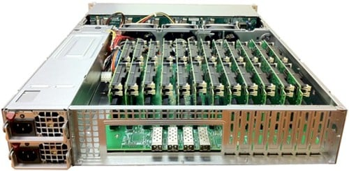 Boston Viridis server rear view