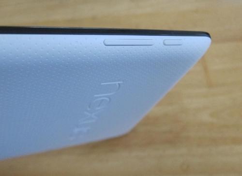 Nexus 7 buttons