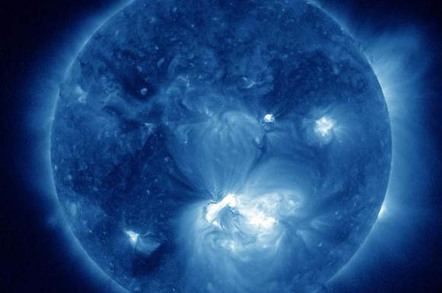 Solar flare on July 12, 2012