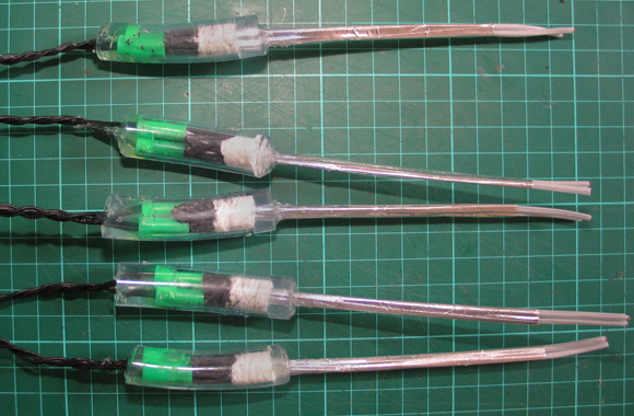 The PVC tube sealed with silicone