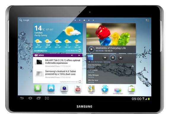 Samsung Galaxy Tab 2 10.1 Android tablet