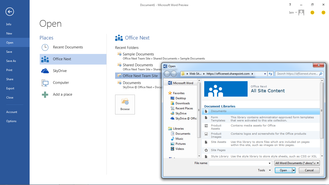 Behold: First look at Office 2013, with screenshots • The