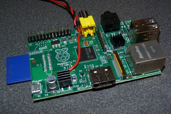 The modified Raspberry Pi board