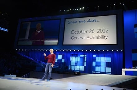 Microsoft's official image revealing that windows 8 will go on sale on october 26th 2012