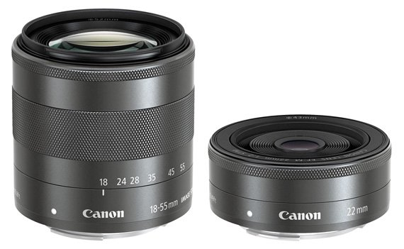 EF-M 22mm f/2 STM pancake and the EF-M 18-55mm f/3.5-5.6 IS STM standard zoom