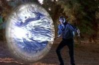 Parallel universe wormhole