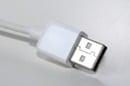 generic shot of plain white USB cable