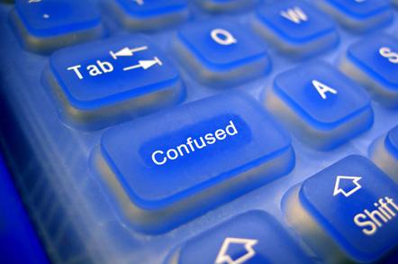 Confused computer keyboard