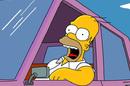 Homer Simpson driving