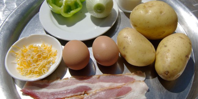 Everything you'll need to make Bauernfrühstück