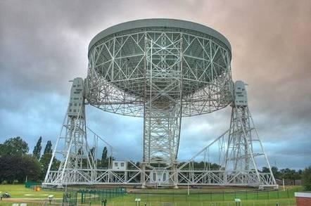 The Lovell Telescope, credit Mike Peel; Jodrell Bank Centre for Astrophysics, University of Manchester