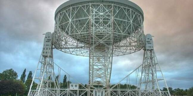 The Lovell Telescope, credit Mike Peel; Jodrell Bank Centre for Astrophysics, University of Manchester