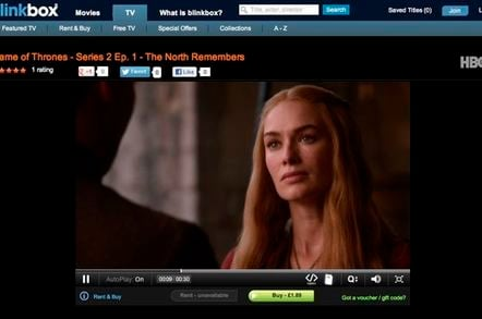 Game of Thrones on Blinkbox