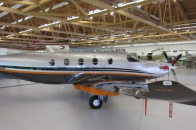 Simon Hackett's new plane, a PC-12NG