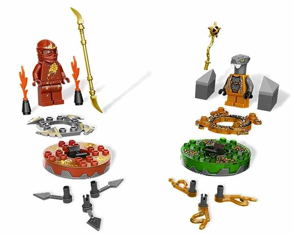 Lego Ninjago weapons set with spinners