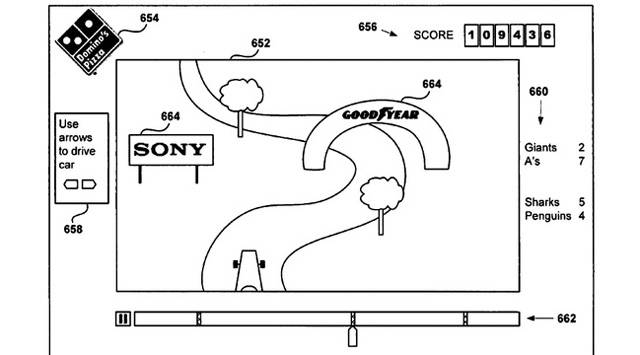 Sony patents for interactive TV ads