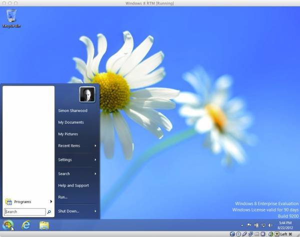 Windows 8 start button enabled by Classic Shell