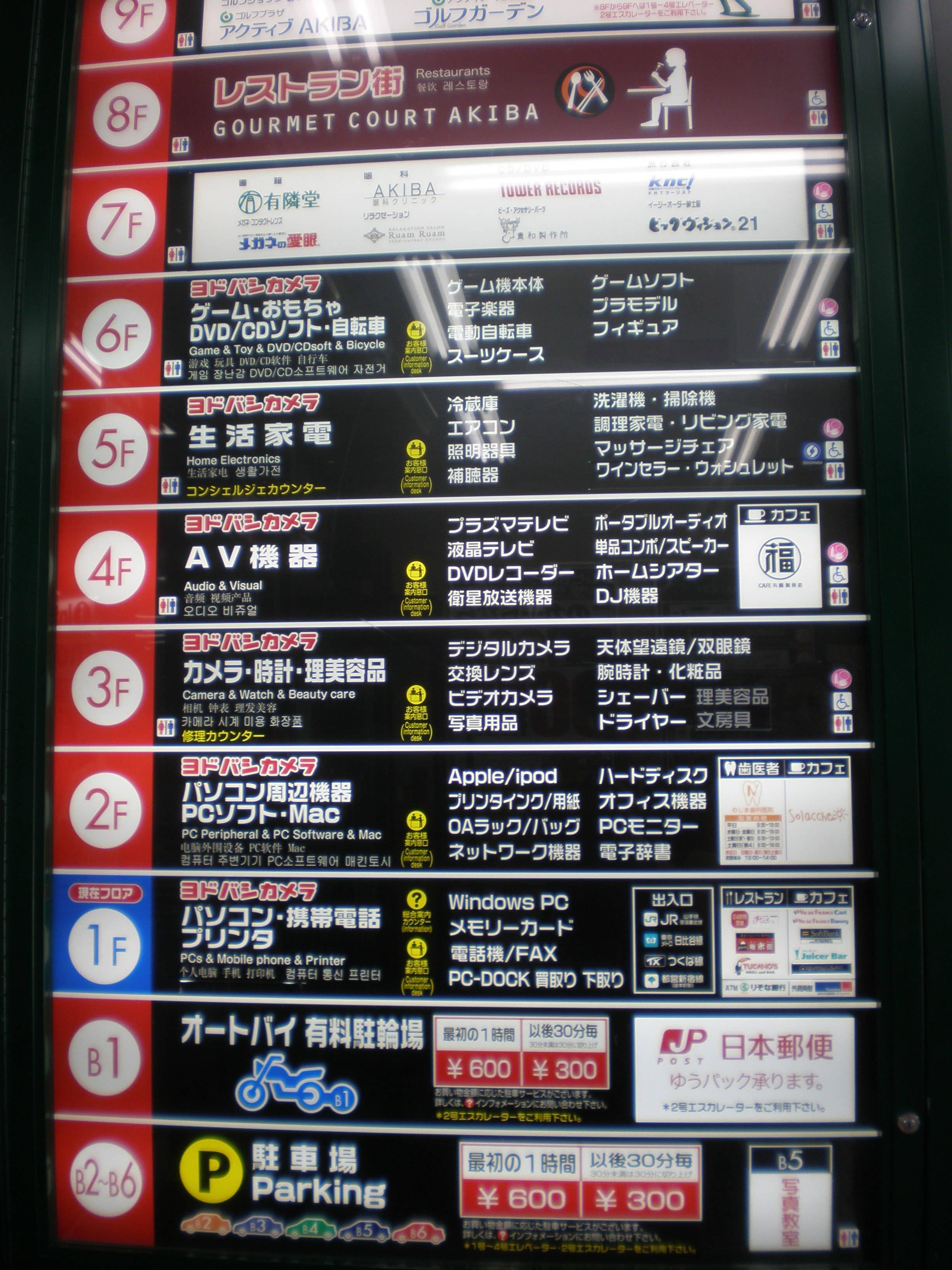 Yodabashi Camera store guide