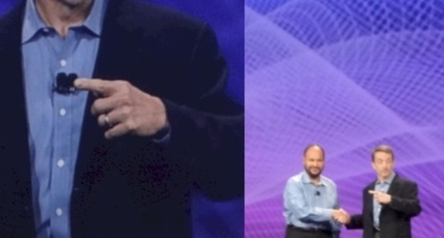VMware's outgoing CEO Paul Maritz with incoming CEO Pat Gelsinger looming large