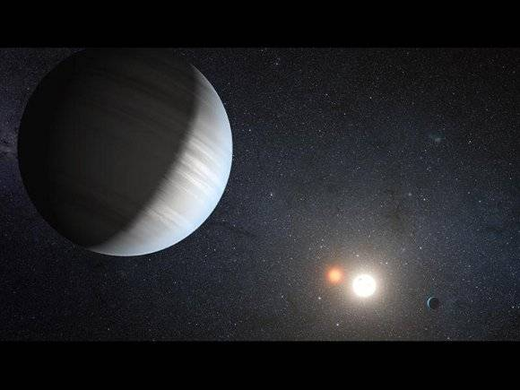 Artist's impression of Kepler 47