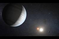 Artist's impression of Kepler 47