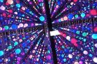 Array of multicoloured LEDs reminiscent of the matrix