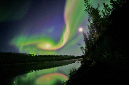 Aurora over Whitehorse, Yukon, on September 3, 2012