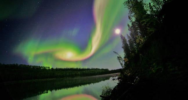 Aurora over Whitehorse, Yukon, on September 3, 2012