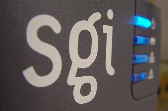 SGI logo hardware close-up