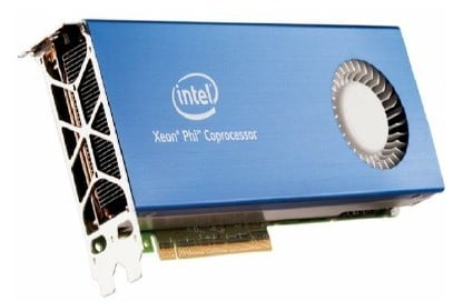 The PCI card housing a Xeon Phi coprocessor