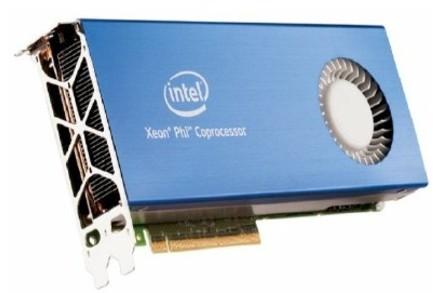 The PCI card housing a Xeon Phi coprocessor