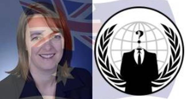 Nicola Roxon Anonymous Australian Flag