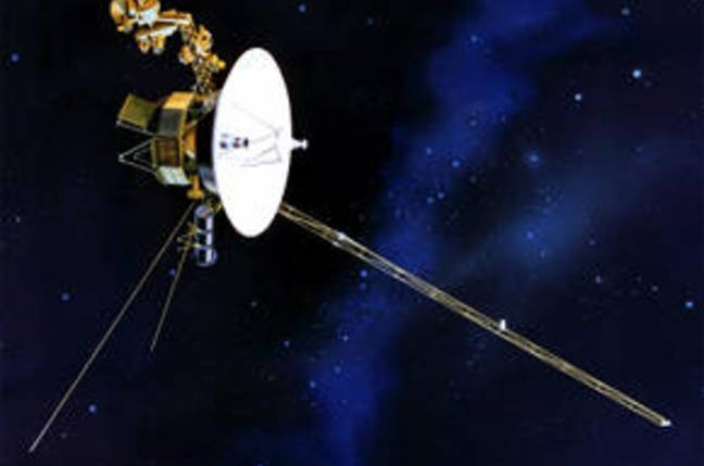 Artist's impression of Voyager 1 in space