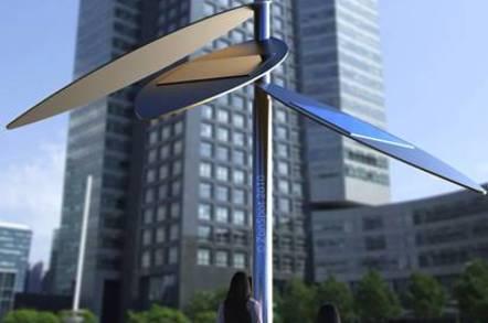The dutch ZonSpot solar powered WiFi desk