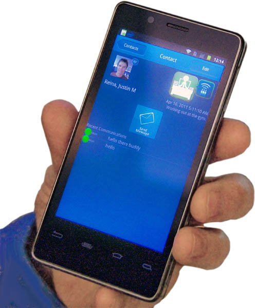 Intel Labs' 'contextual awareness' technology running on an Android phone