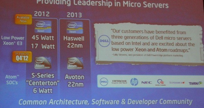 The next revs of the Xeon E3 and Atom server chips