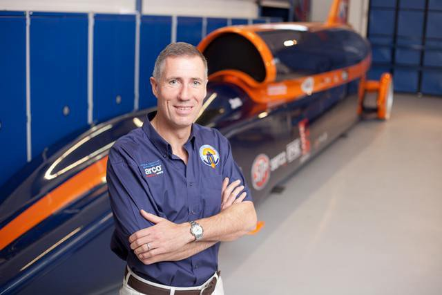Bloodhound driver Andy Green. Pic: Bloodhound SSC