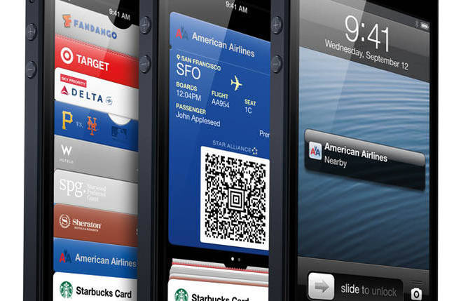 iPhone 5 running Passbook