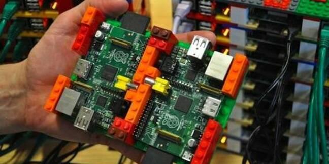 Raspberry Pi and Lego Supercomputer, credit Simon J Cox 2012
