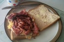 Andy Scarland's effort: with egg and brown sauce