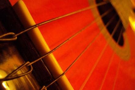 Strings of a guitar