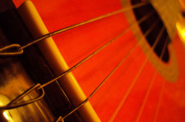 Strings of a guitar