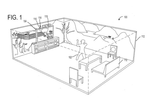 Diagram from Microsoft patent application Immersive Display Experience, credit US Patent Office