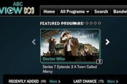ABC iView with Doctor Who
