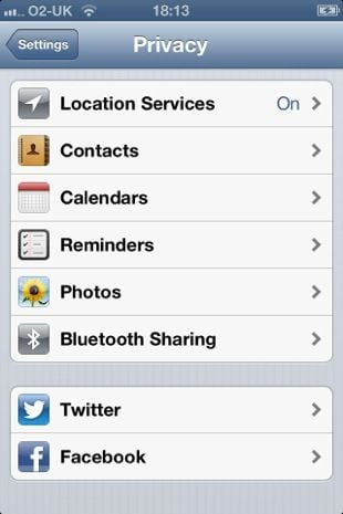Apple iOS 6 Privacy