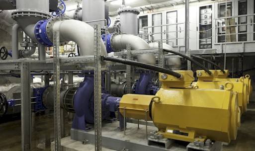 The pumps to move lake water to the CSCS data center in Lugano