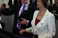 Australian Prime Minister Julia Gillard in the operations centre at Macquarie Telecom's new Intellicentre 2 data centre