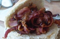 Neil Cardy's massive bacon sarnie from a cafe on the A90