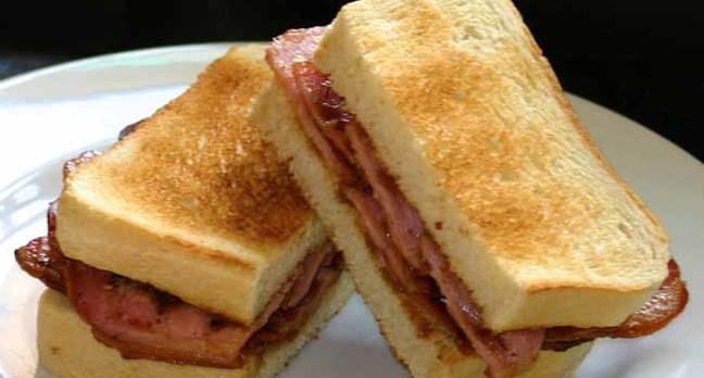 SuperTim's bacon bounty sarnie